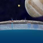 Lua Europa - Vazamente na Crosta de Gelo