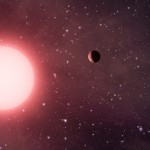 Kepler-56, brilhando a 2.800 anos-luz da Terra, vai devorar dois de seus planetas daqui milhões de anos. Crédito imagem: NASA.