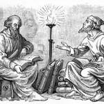 Discussão noite adentro, de William Blades: o debate franco de ideias, conforme os padrões da argumentação lógica, é uma das características centrais da atividade filosófica. Crédito da Imagem: Wikipedia.