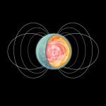 A impressão de um artista de um magnetar com um intenso campo magnético torroidal em seu núcleo. Crédito: NASA / CXC / M.Weiss.