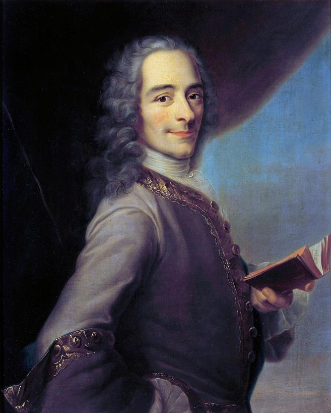 Retrato de Voltaire, o dramaturgo controverso do iluminismo que assumiu a causa de Newton depois de viver em Londres durante seu exílio. Crédito: Leemage / Corbis.