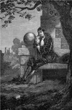 Esqueça a maçã. Foi a matemática que levou Newton a sua teoria da gravidade. Crédito: Photos.com / Getty Images.