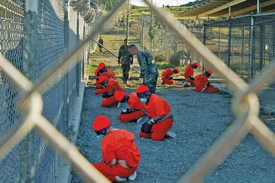"""Baía de Guantánamo, Cuba, onde os detidos são mantidos """"em quarentena"""". (Zuma Press/Eyevine)"""