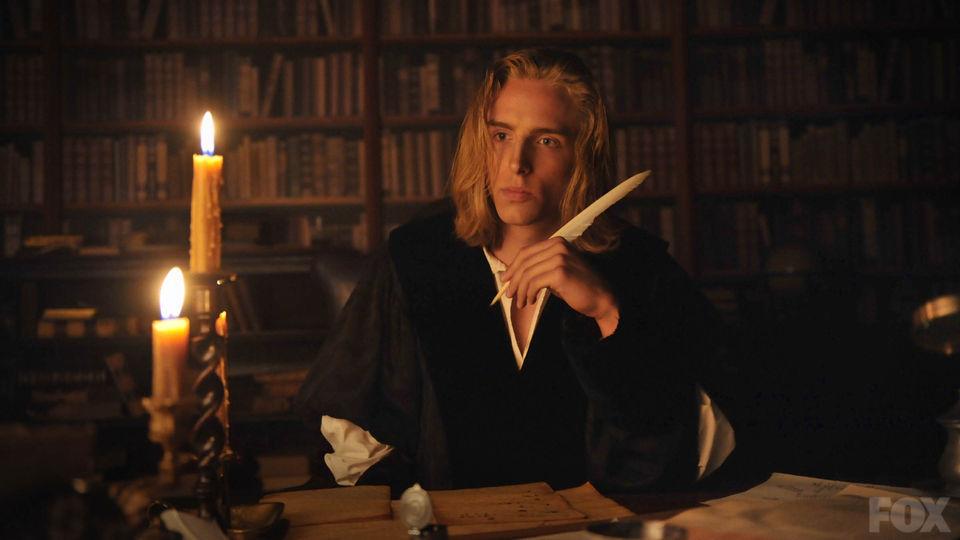Isaac Newton representado por um ator, na série Cosmos - A Spacetime Odyssey, de 2014. Créditos: FOX