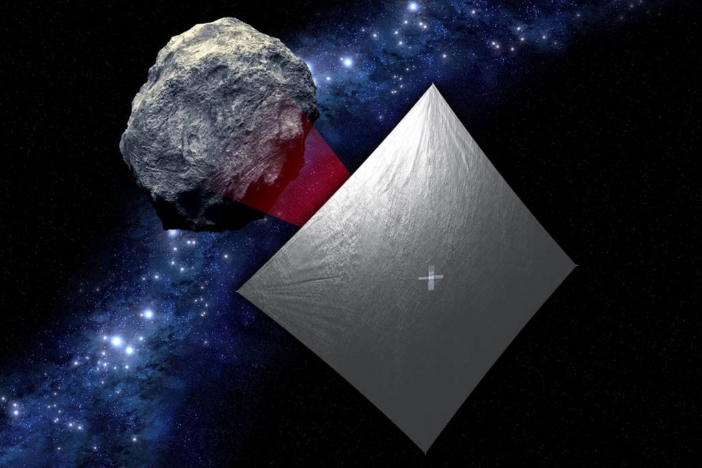 Asteroide pequeno, satélite pequeno. NASA.