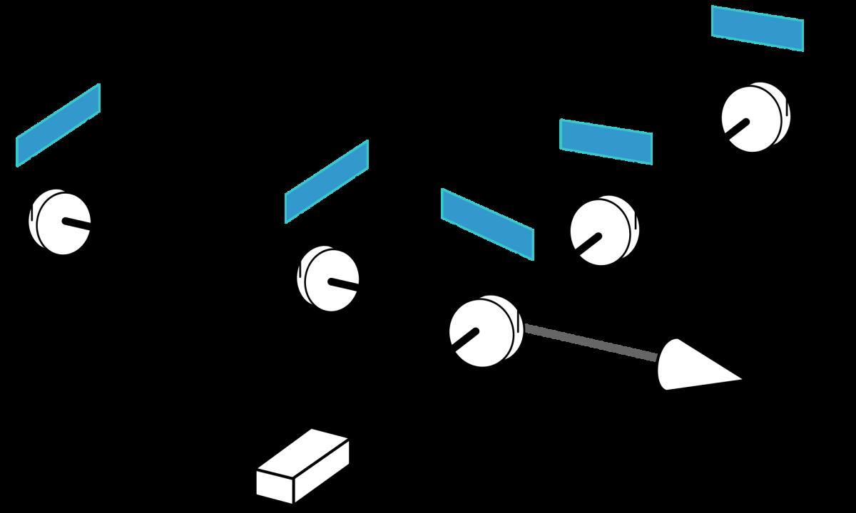 Um esquema de como funciona o LIGO. Modificações feitas por Krzysztof Zajączkowski. Créditos da Imagem: US Government.