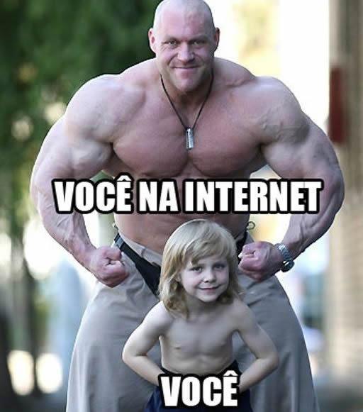 """Internet x """"vida real"""". (Imagem: perolas.com)"""