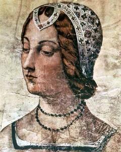 Miniatura de Laure de Noves, que pode ter sido a 'Laura' de Petrarca.