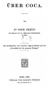 A obra Über Coca, uma monografia sobre o uso clínico da cocaína.