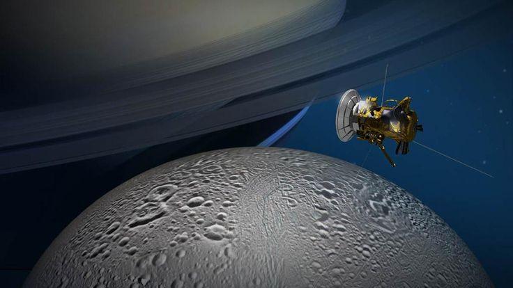 Concepção-artística-da-sonda-Cassini-sobrevoando-Encélado