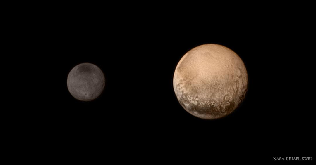 Plutão e Caronte.