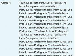 """""""You Have To Learn Portuguese"""" diz resumo de uma dissertação de mestrado da Universidade Federal de Juiz de Fora - UFJF."""